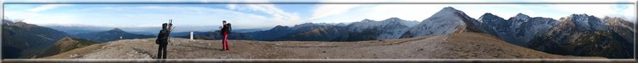 360° panoráma z Rákoňa v Západných Tatrách na okolie (19.10.2008)