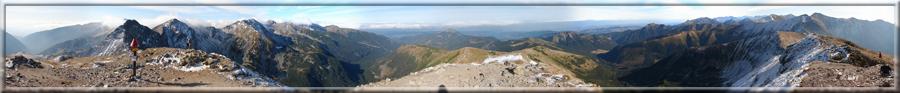 360° panoráma z Volovca v Západných Tatrách na okolie (19.10.2008)