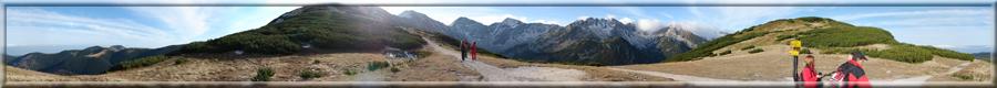 360° panoráma zo sedla Zábraď v Západných Tatrách na okolie (19.10.2008)