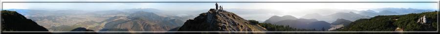 360° panoráma z Veľkého Choča na okolie (22.11.2009)