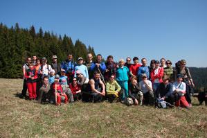 Spoločné foto účastníkov prechodu za Lučivným