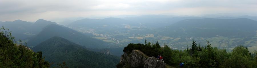Panoráma z Malého Rozsutca na Terchovú