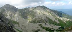 Panoráma na vrchy Pachoľa a Spálená