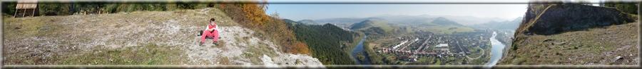 Panoráma z Červenej skaly na Podbiel a okolie (12.10.2010)