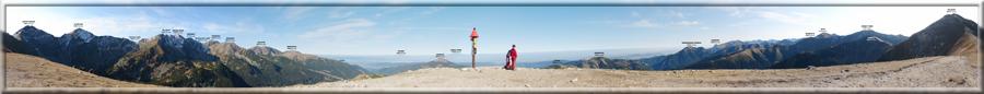 Panoráma z Rákoňa v Západných Tatrách (10.10.2010)