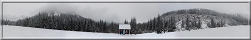 360° panoráma počas výstupu na Ťatliakovu chatu