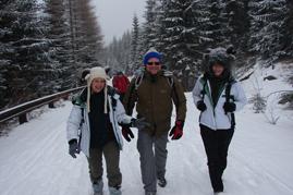 Danka, Zdeno a Erika počas výstupu